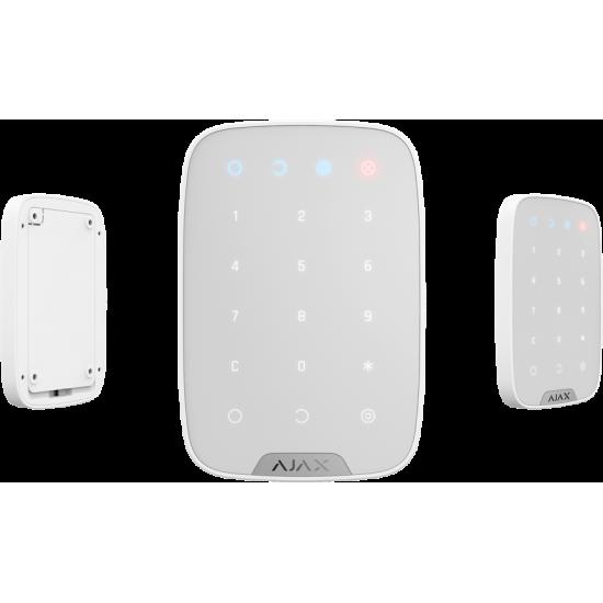 Ajax Keypad White 8706 - Ασύρματο Πληκτρολόγιο αφής