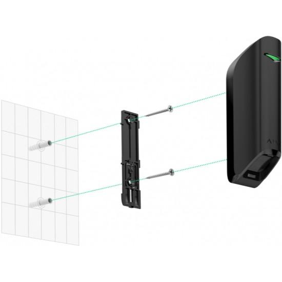 Ajax MotionProtect Curtain Black - Aσύρματη κουρτίνα με δύο αισθητήρες Υπέρυθρους & PET