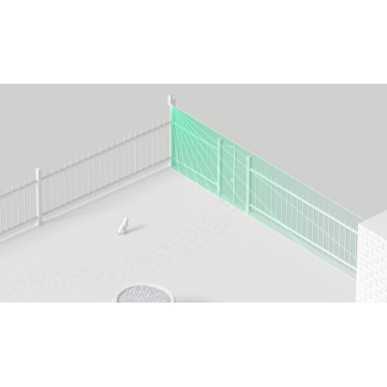 Ajax MotionProtect Curtain White - Aσύρματη κουρτίνα με δύο αισθητήρες Υπέρυθρους & PET