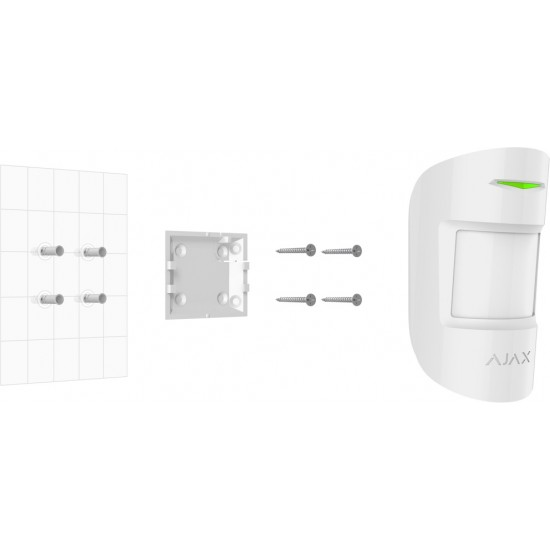 Ajax MotionProtect White 5328 - Ασύρματος ανιχνευτής κίνησης Radar Υπέρυθρος & PET