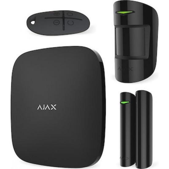 Ajax Starter Kit Black 7563(005) - Πακέτο ασύρματου συναγερμού επεκτάσιμο - Επικοινωνία μέσω LAN / GPRS / GSM