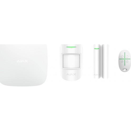 Ajax Starter Kit White 7564(012) - Πακέτο ασύρματου συναγερμού επεκτάσιμο - Επικοινωνία μέσω LAN / GPRS / GSM