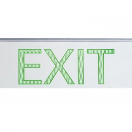 Φωτιστικό Ασφαλείας - Πινακίδα Εξόδου Διπλής Πρόσοψης EL4LED EXIT2 D