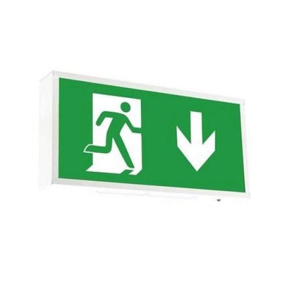 Φωτιστικό Ασφαλείας - Πινακίδα Εξόδου επίτοιχο Ansell Watchman LED Exit Sign