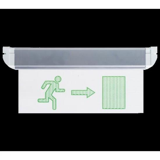 Φωτιστικό Ασφαλείας - Πινακίδα Εξόδου με κατεύθυνση Διπλής Πρόσοψης EL4LED MAN 2DLR