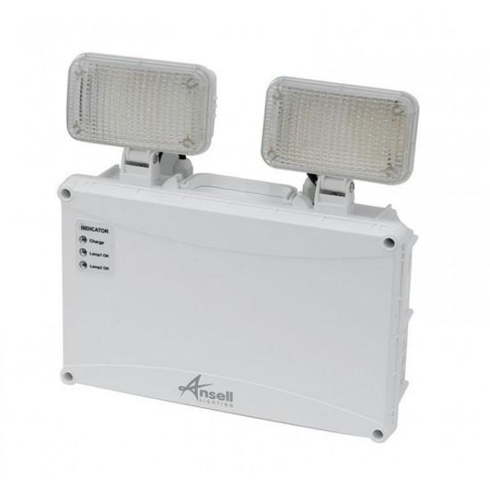Φωτιστικό Ασφαλείας - Προβολέας Διπλός Ansell Owl LED Twin Spot IP65