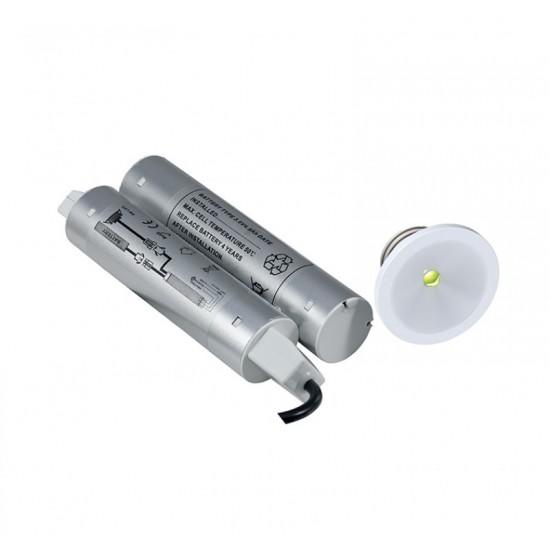 Φωτιστικό Ασφαλείας χωνευτό Ansell Signal LED Spot με μπαταρια