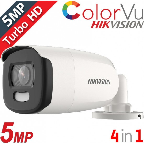 Κάμερα Hikvision DS-2CE12HFT-F28 Bullet HD-TVI/AHD/CVI/CVBS (4 in 1) 5Mpx-2592*1944 - EXIR - ColorVu - Full time color - 2,8mm