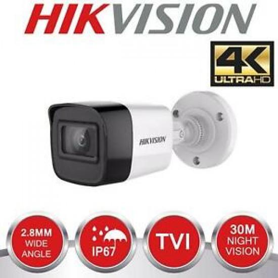 Κάμερα Hikvision DS-2CE16U1T-ITF Bullet HD-TVI/AHD/CVI/CVBS (4 in 1) 8Mpx-3840*2160 - EXIR - 2,8mm