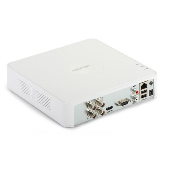 Καταγραφικό - DVR Hikvision DS-7104HQHI-K1(S) 4Mpx 4 Καναλιών ( HD-TVI + IP ) υβριδικό - Pentabrid - H265Pro+