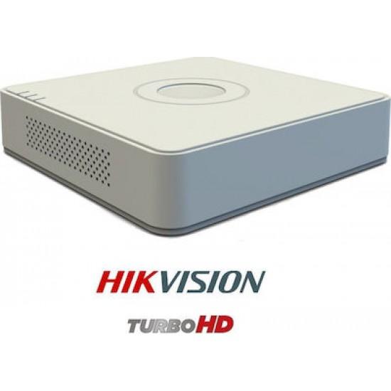 Καταγραφικό - DVR Hikvision DS-7104HUHI-K1 8Mpx 4 Καναλιών ( HD-TVI + IP ) υβριδικό - Pentabrid - H265Pro+