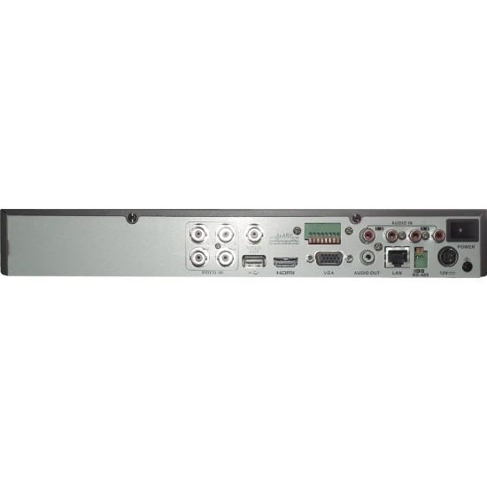 Καταγραφικό - DVR Hikvision DS-7204HUHI-K1 8Mpx 4 Καναλιών ( HD-TVI + IP ) υβριδικό - Pentabrid - H265Pro+
