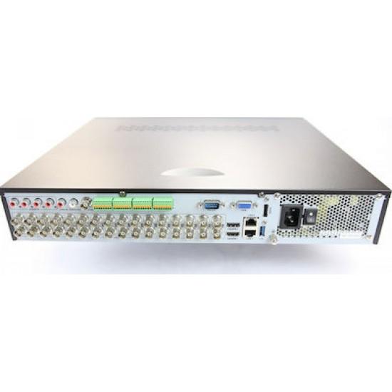 Καταγραφικό - DVR Hikvision DS-7332HUHI-K4 8Mpx 32 Καναλιών ( HD-TVI + IP ) υβριδικό - Pentabrid - H265+