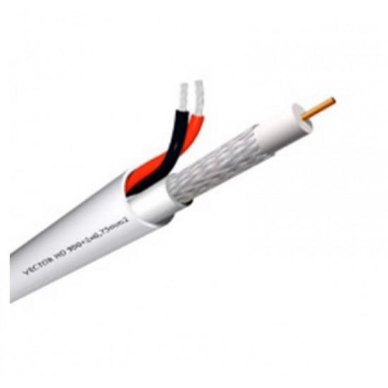 Καλώδιο CCTV τύπου mini RG 59 - Ομοαξωνικό + Τροφοδοσία