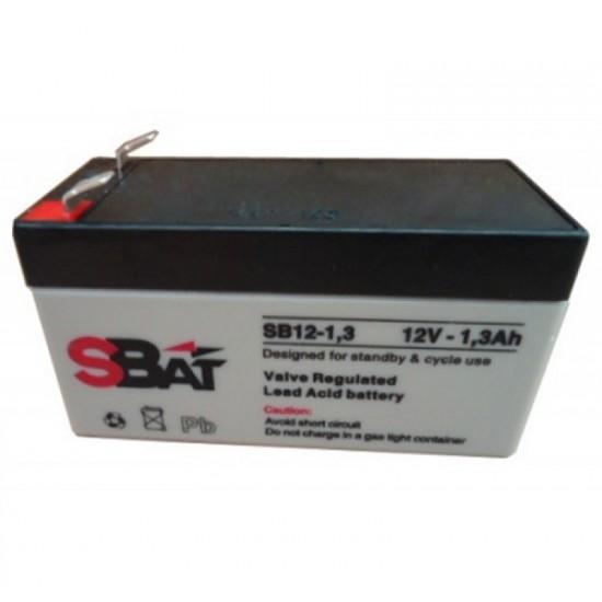 Μπαταρία μολύβδου επαναφορτιζόμενη SBat 12Volt / 1.3Ah