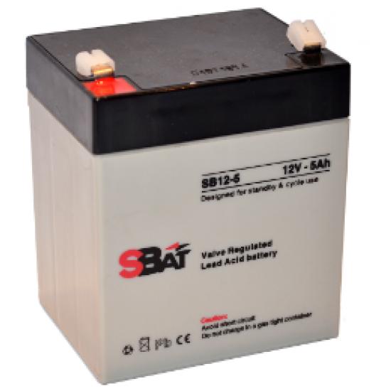 Μπαταρία μολύβδου επαναφορτιζόμενη SBat 12Volt / 5.0Ah