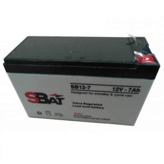 Μπαταρία μολύβδου επαναφορτιζόμενη SBat 12Volt / 7.0Ah