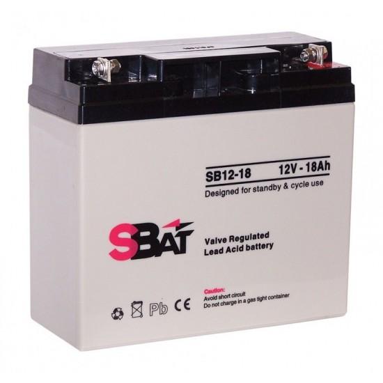 Μπαταρία μολύβδου επαναφορτιζόμενη SBat 12Volt / 18.0Ah