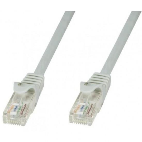 Καλώδιο Δικτύου - Patch cord 1,0m UTP Cat6 Γκρί Θωρακισμένο