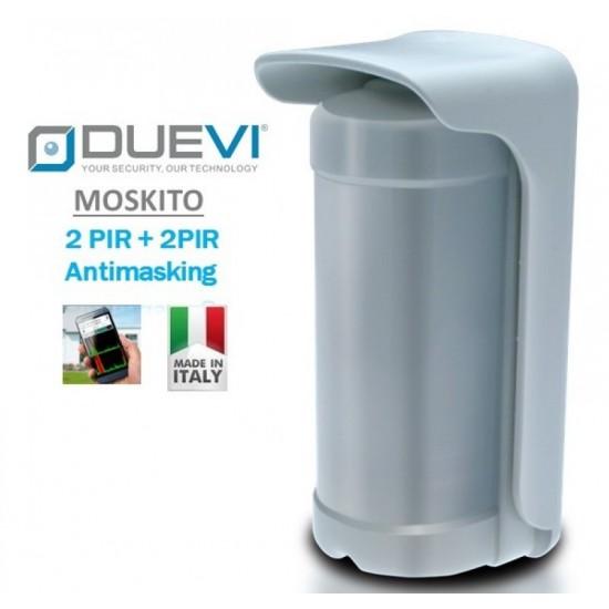 Ανιχνευτής Κίνησης - Radar ( 3 Διπλά Υπέρυθρα για 3 πλευρές ) Duevi Moskito-F με antimasking
