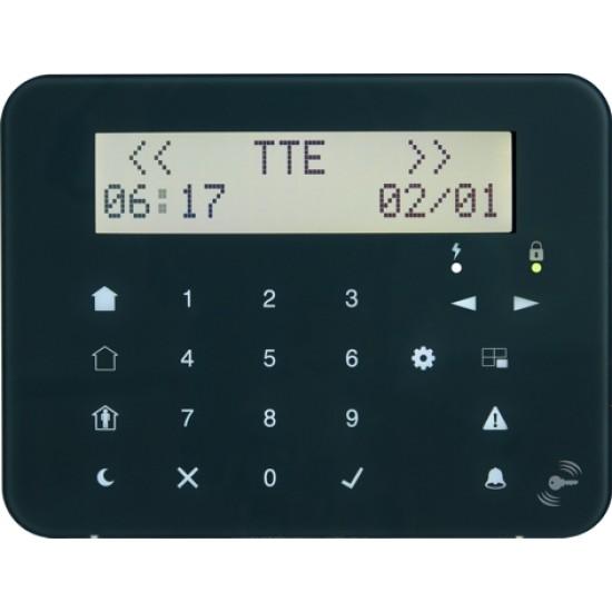 Πληκτρολόγιο Teletek Eclipse LCD32SPR Αφής με περιγραφή & Proximity Reader ( Καρταναγνώστη ) 99 ζωνών.