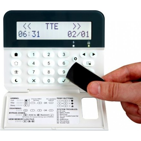 Σετ Πίνακας Συναγερμού Teletek Eclipse16 και Πληκτρολόγιο Teletek Eclipse LCD32PR.Υποστηρίζει 16 ζώνες