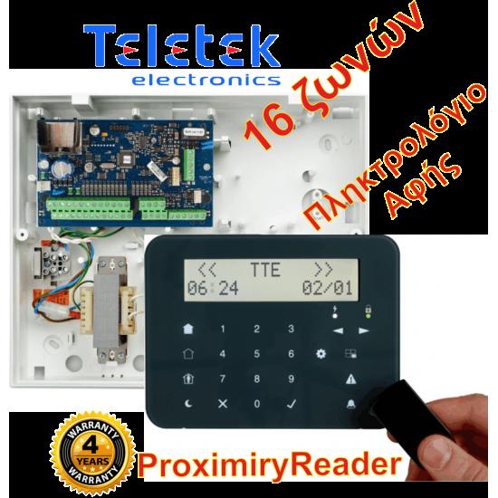 Σετ Πίνακας Συναγερμού Teletek Eclipse16 και Πληκτρολόγιο Teletek Eclipse LCD32SPR.Υποστηρίζει 16 ζώνες