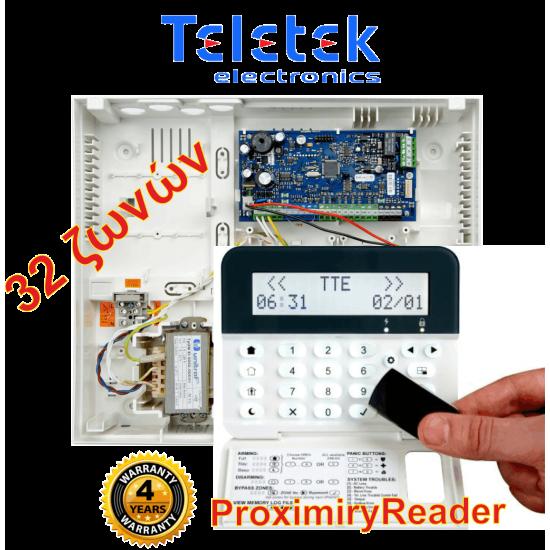 Σετ Πίνακας Συναγερμού Teletek Eclipse32 και Πληκτρολόγιο Teletek Eclipse LCD32PR.Υποστηρίζει 32 ζώνες