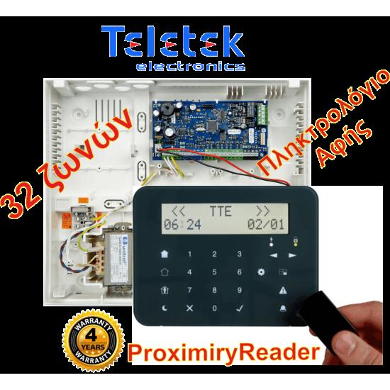Σετ Πίνακας Συναγερμού Teletek Eclipse32 και Πληκτρολόγιο Teletek Eclipse LCD32SPR.Υποστηρίζει 32 ζώνες