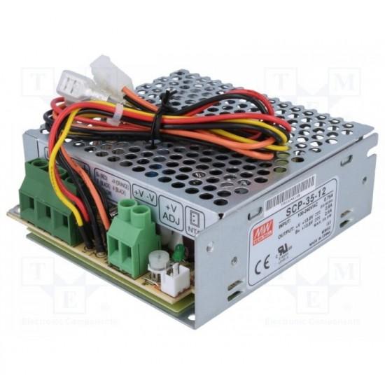 Τροφοδοτικό Switching Ανοιχτού Τύπου  12V / 2.5A (35W) με δυνατότητα φόρτισης μπαταρίας 12V / 7Ah